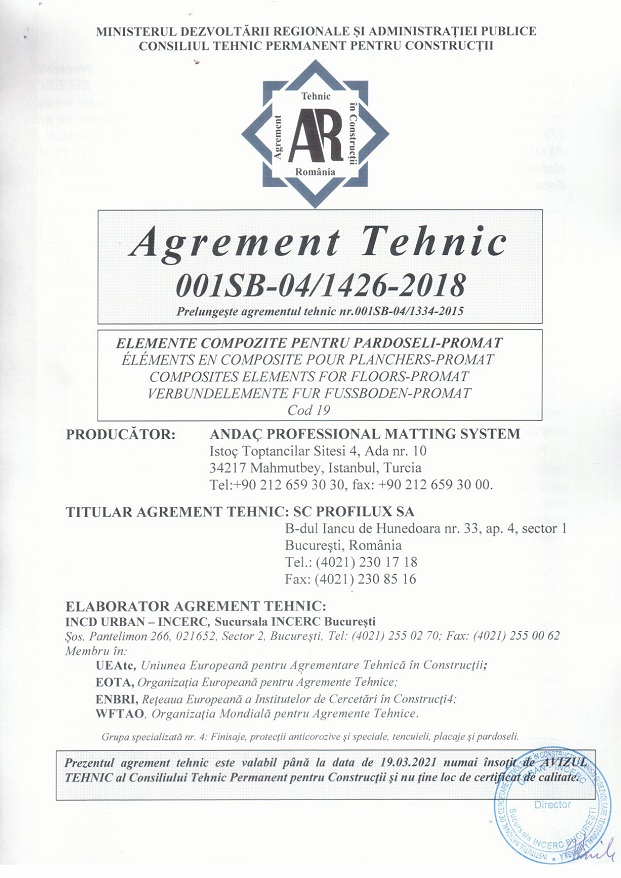 Agrement tehnic Promat