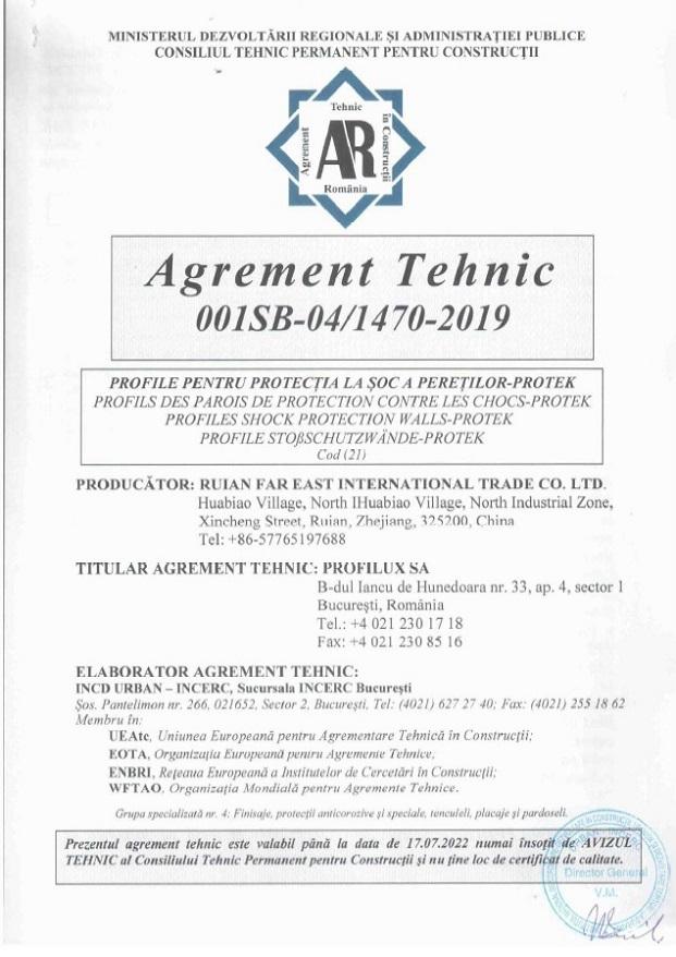 Agrement tehnic Protek