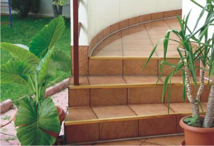 Protectii pentru trepte, protectie de treapta din aluminiu eloxat, alama