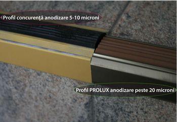 comparatie profile anodizate PROLUX - Genesis varianta 1