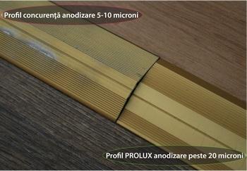 comparatie profile anodizate PROLUX - Genesis varianta 4